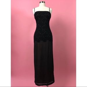 All That Jazz VTG Y2K full length blk maxi dress M